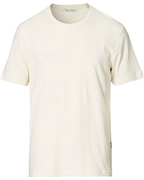 Olaf Cotton/Linen Crew Neck Tee Ivory Sand