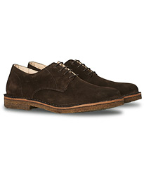 Cityflex Plain Toe Derby Dark Brown Suede