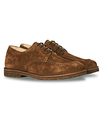 Carlflex Moc Toe Derby Brown Suede