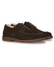 Carlflex Moc Toe Derby Dark Brown Suede