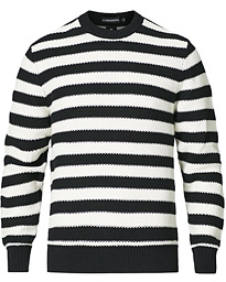 Rico Stripe Structre Crew Neck Black/White