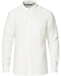 Slim Fit Clean Linen Shirt Cloud White