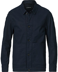 Eric Linen/Cotton Overshirt Navy