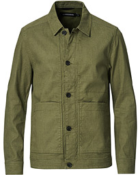 Eric Linen/Cotton Overshirt Lake Green