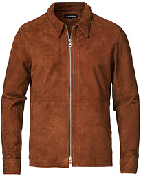 Jonah Suede Zip Jacket Bronco