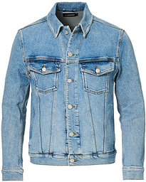 Ran Sky Wash Stretch Denim Jacket Light Blue