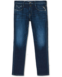 Anbass Power Stretch One Year Wash Jeans Dark Blue