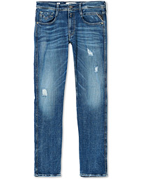 Anbass Power Stretch Five Year Wash Jeans Blue