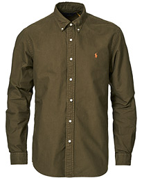 Custom Fit Oxford Button Down Shirt Defender Green