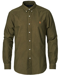 Slim Fit Oxford Button Down Shirt Defender Green