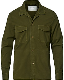 Bernard Tencel Overshirt Army Green