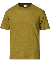 Dylan Linen Crew Neck Tee Olive Green