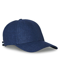 Linen Baseball Cap Oxford Blue