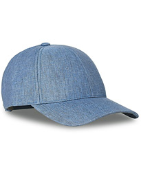 Linen Baseball Cap Steel Blue