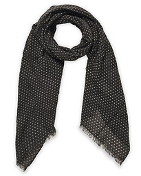 Classic Spot Printed Wool Scarf Grey