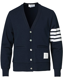 4 Bar Loopback Cardigan Navy