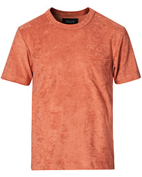 Fons Cotton Blend Terry Pocket Tee Reddish