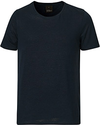 Kyran Short Sleeve Linen T-Shirt Navy