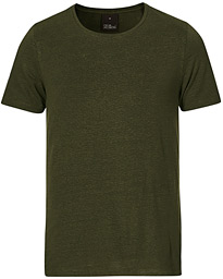 Kyran Short Sleeve Linen T-Shirt Green