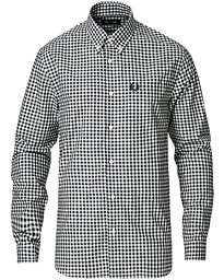 Gingham Long Sleeve Shirt Black
