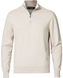 Cotton/Silk Half -Zip Dove Grey
