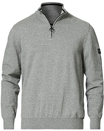 Cotton Half Zip Antracite Marl