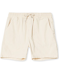 Classic Organic Twill Drawstring Shorts Ivorry White