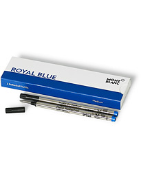 2 Rollerball Refills Royal Blue
