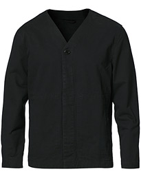 Abe Cotton Shirt Jacket Black