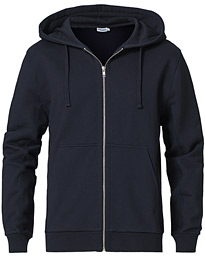 Aldous Cotton Zip Hood Navy