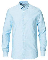 Tim Oxford Shirt Turquoise/White