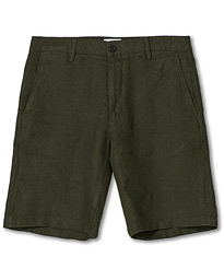 Crown Linen Shorts Army Green