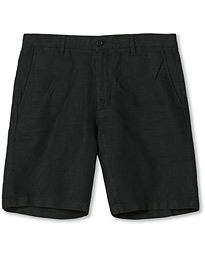 Crown Linen Shorts Black