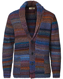 Dégradé Shawl Collar Cardigan Multi