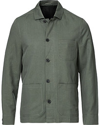 Louis Linen Jacket Green Grey