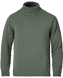 Heavy Cotton Roll Neck Dusty Olive