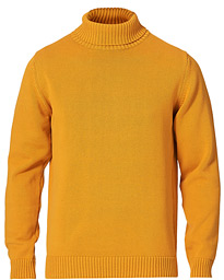 Heavy Cotton Roll Neck Burnt Yellow