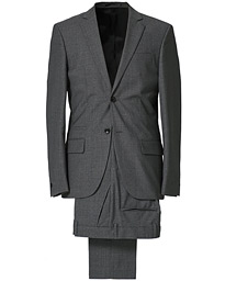 Rick Cool Wool Suit Grey Melange