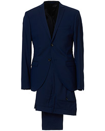Jil Wool Stretch Suit Blue