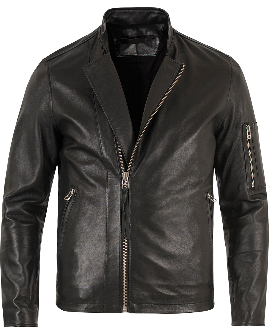3bef2b9c Tiger of Sweden Jeans Rikki Leather Jacket Black hos CareOfCarl.n