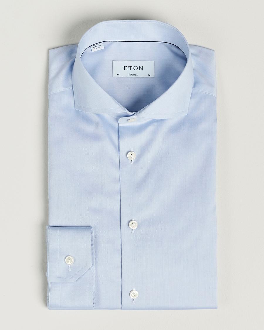 Lyseblå Eton Super Slim Skjorter