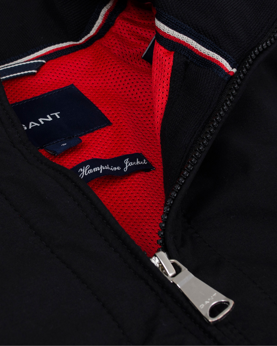 GANT The New Hampshire Jacket Black hos CareOfCarl.no