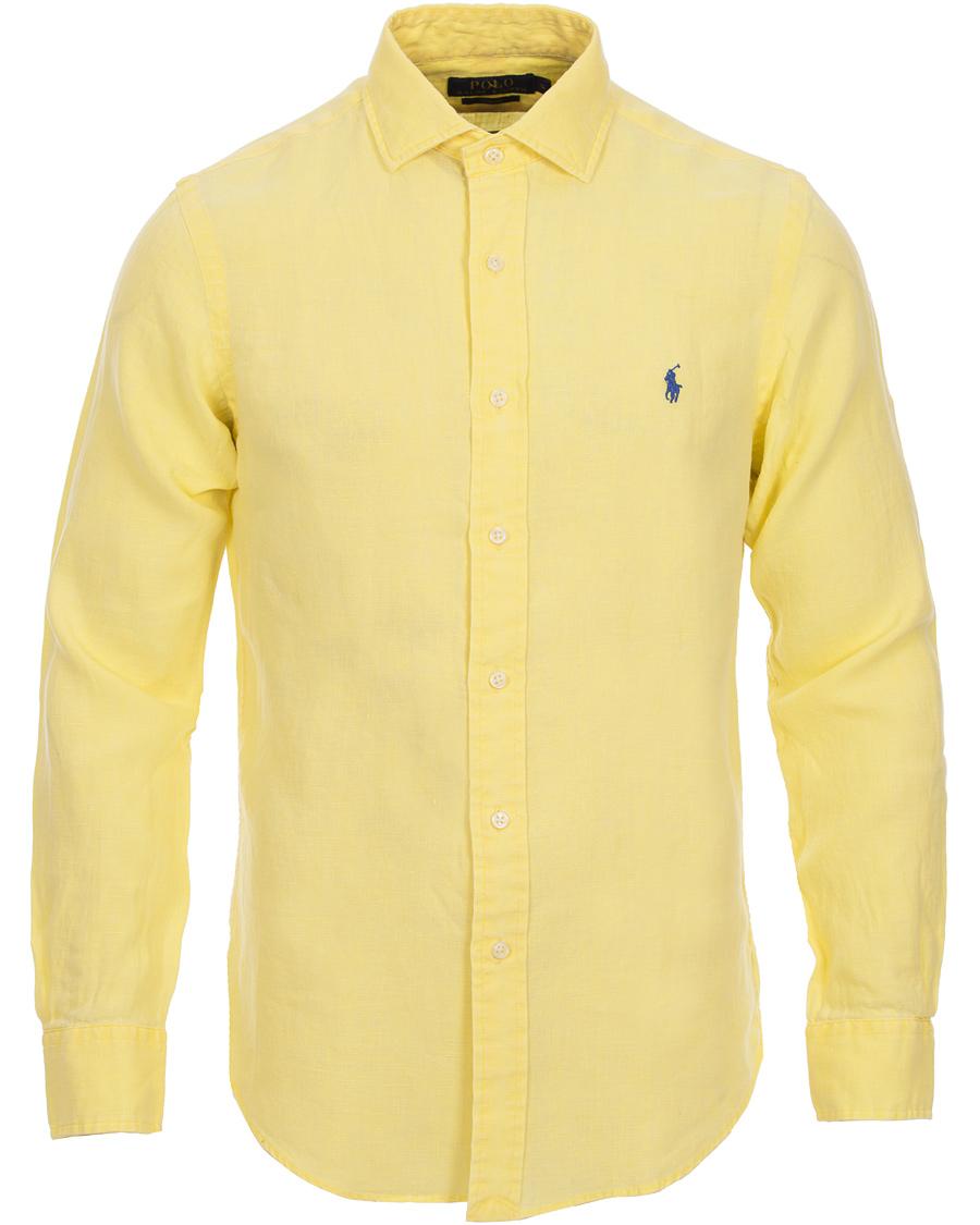 gul ralph lauren skjorta