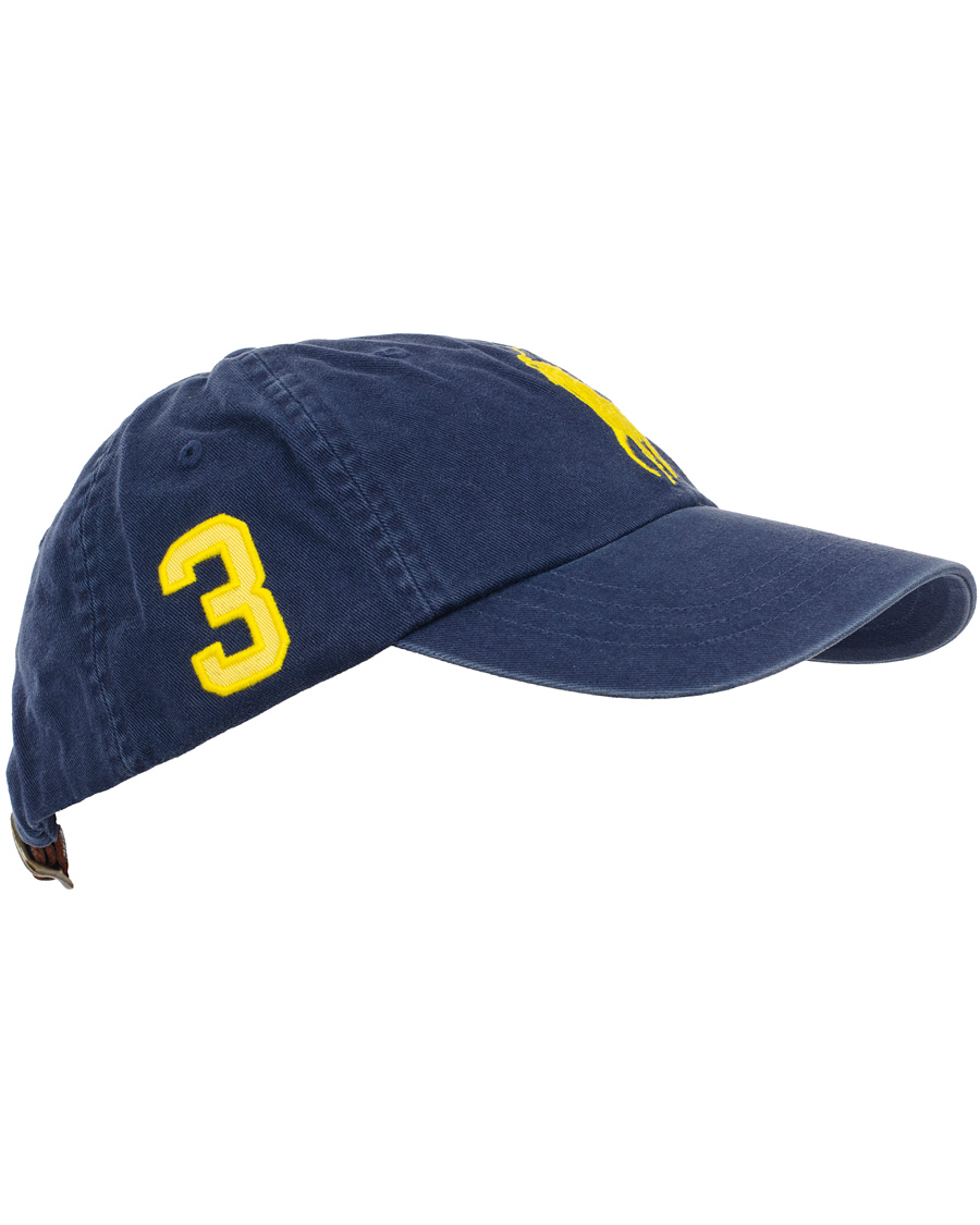 Polo Ralph Lauren Big Pony Cap Navy Lemon hos CareOfCarl.no b491a10bbe0