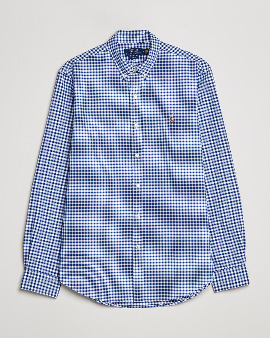 dd10cafafdc Polo Ralph Lauren Slim Fit Shirt Oxford Blue/White Gingham hos Ca