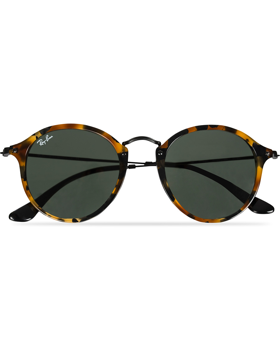 29e76520a963 Ray-Ban RB2447 Acetat Round Sunglasses Spotted Black Havana Green