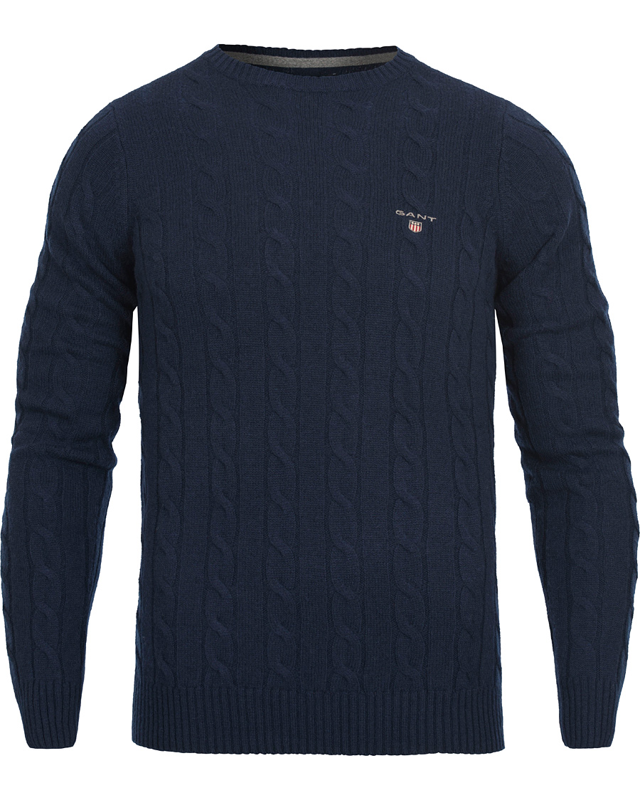preppy essentials T skjorte med GANT logo Evening Blue for