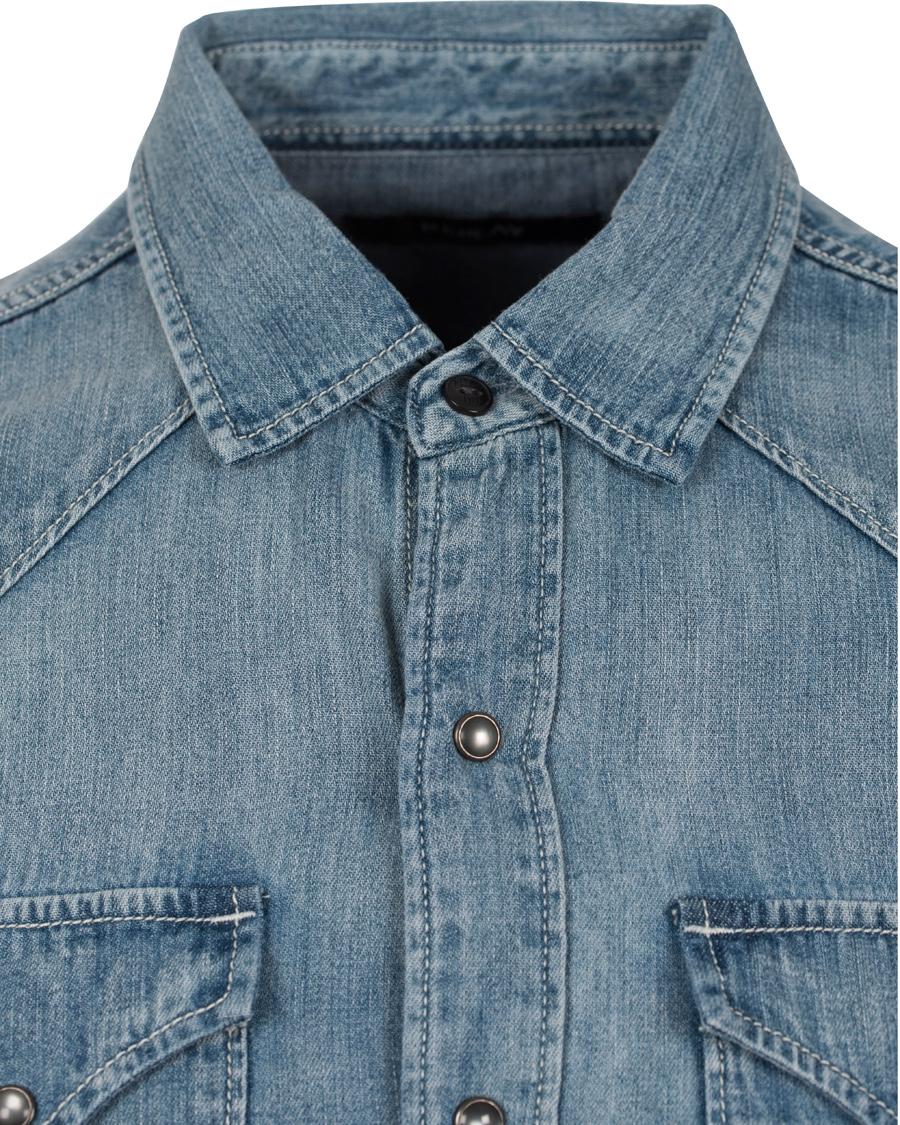 Replay M4860 Denim Shirt Blue hos CareOfCarl.no