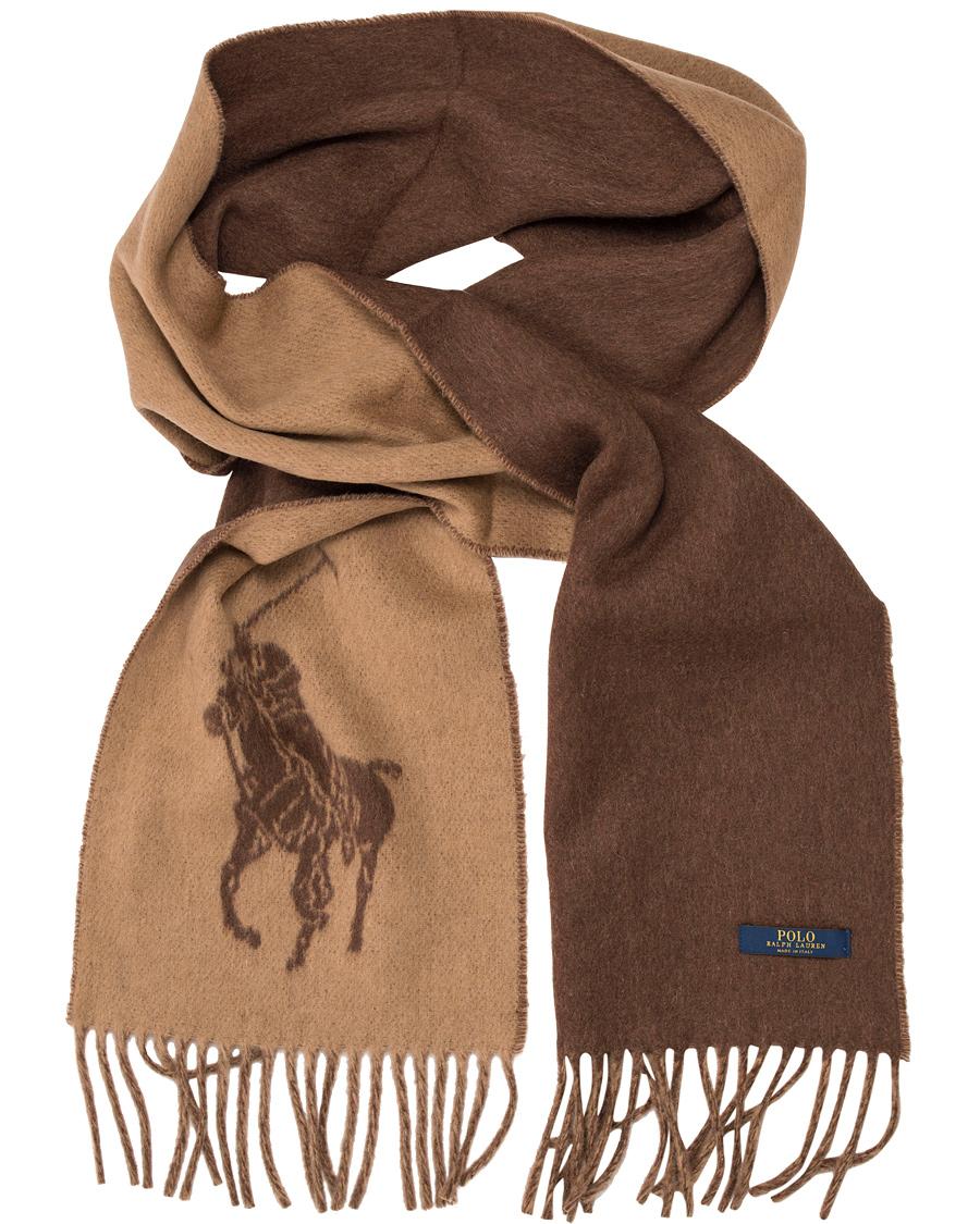 2606cb42e Polo Ralph Lauren Big Pony Jaquard Scarf Camel Heather