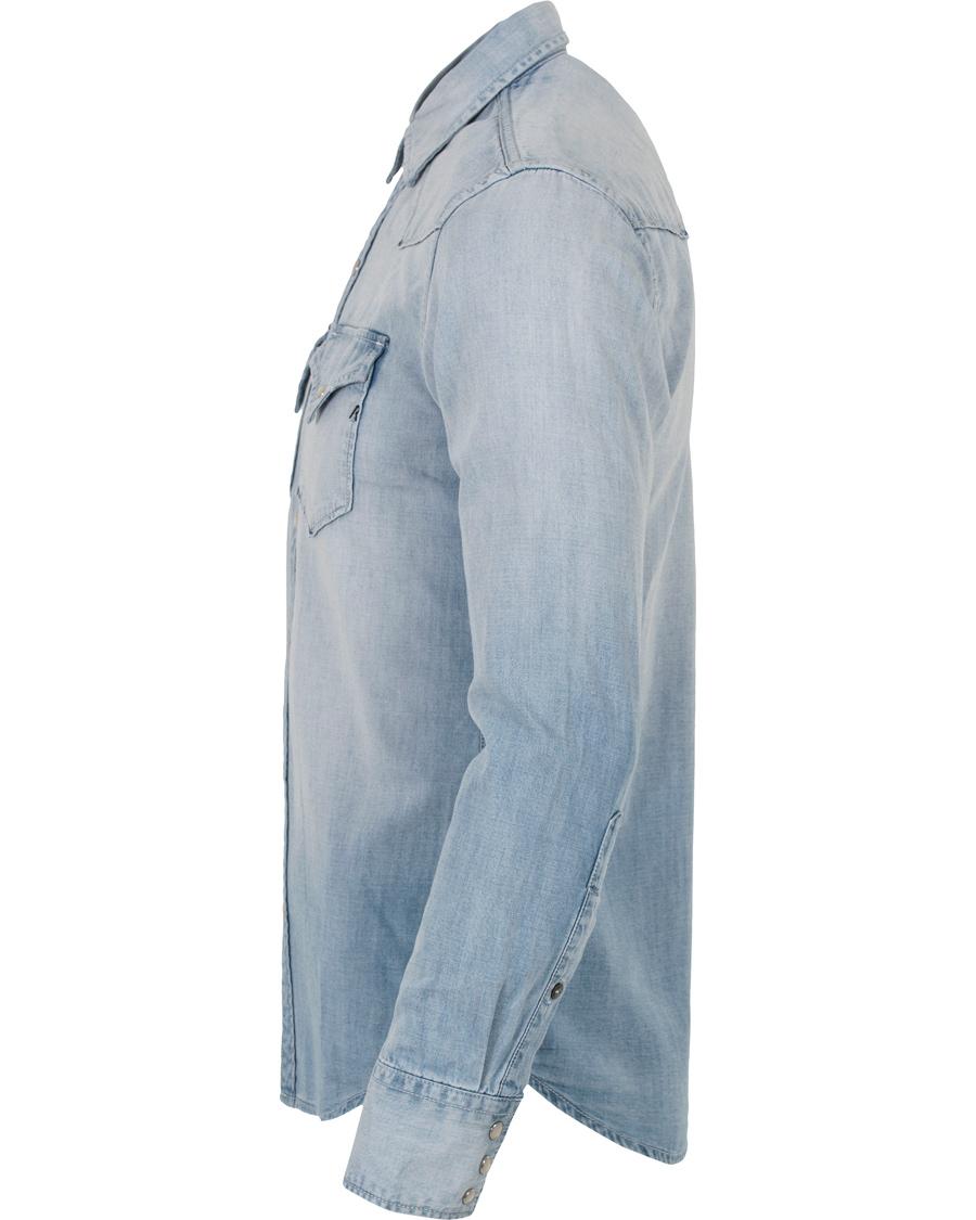 Replay M4860M Denim Shirt Blue hos CareOfCarl.no